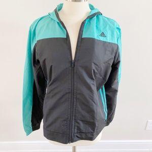 NWT Adidas Sport Warm Up Teal Black Jacket Large